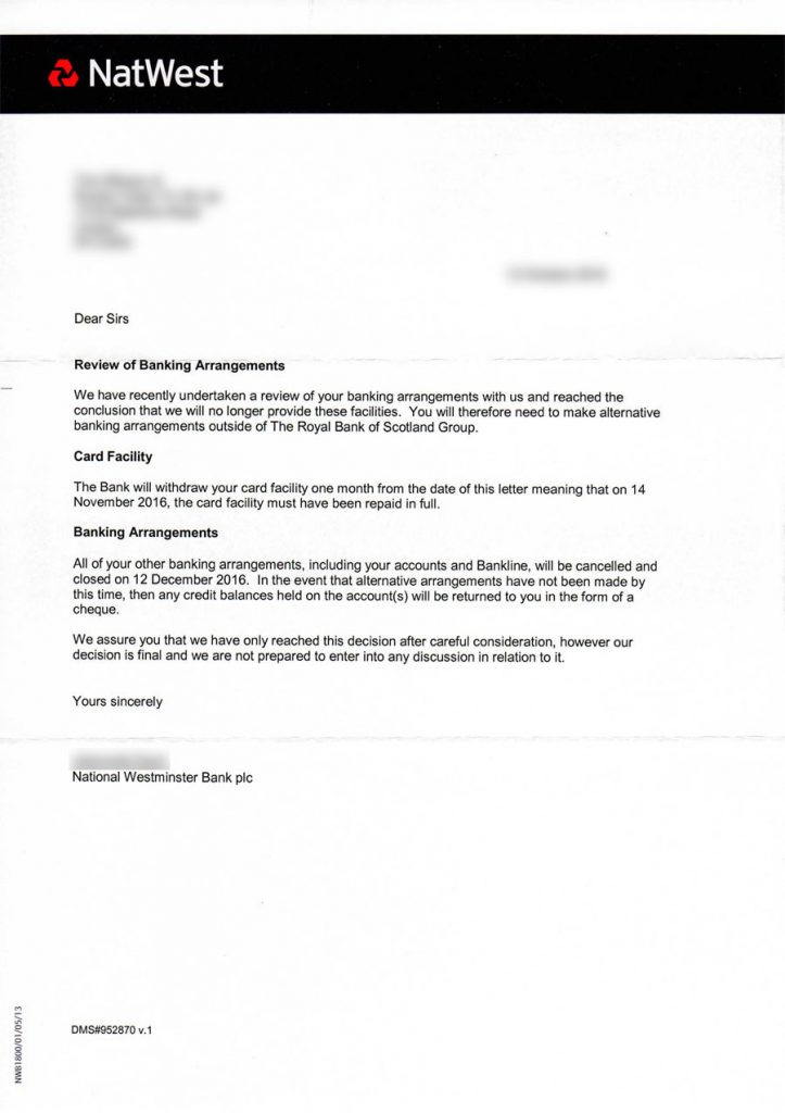 NatWest RT letter