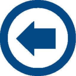 arrow left blue