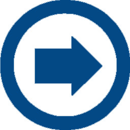 arrow right blue